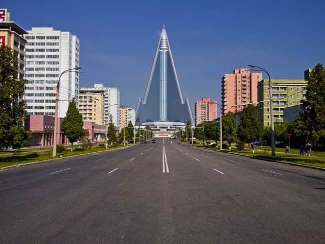 A Street View Of The Ryugyong ... is listed (or ranked) 4 on the list 28 Snapshots Of Daily Life In Pyongyang, North Korea