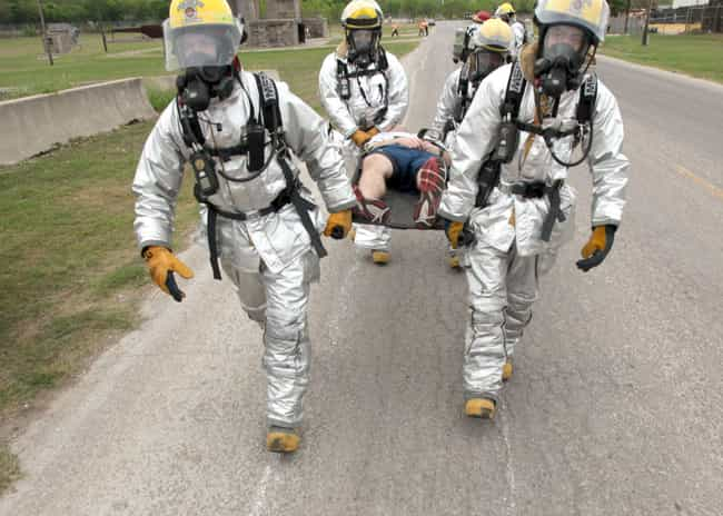 It Can Be Breathed In Or... is listed (or ranked) 1 on the list The Horrifying Effects Of Nerve Gas On The Human Body