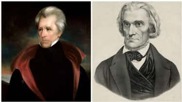 Andrew Jackson Literally Threa is listed (or ranked) 2 on the list 11 President/Vice President Pairs Who Didn't Get Along Too Well