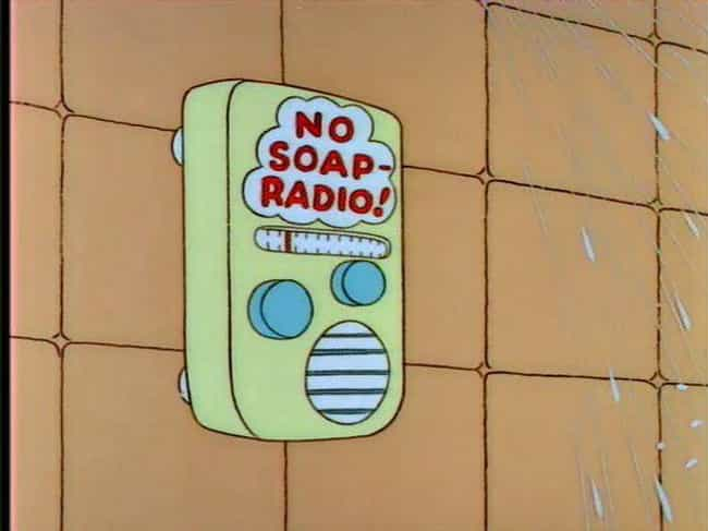 Homer's No Soap Radio is listed (or ranked) 4 on the list Ridiculously Smart Simpsons Jokes You Haven't Been Getting for the Last 20 Years