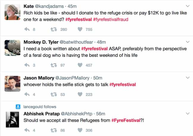 Social Media Went IN On The Ev... is listed (or ranked) 3 on the list Ja Rule Put On A Music Festival Called FyreFest And It Was A Massive Disaster