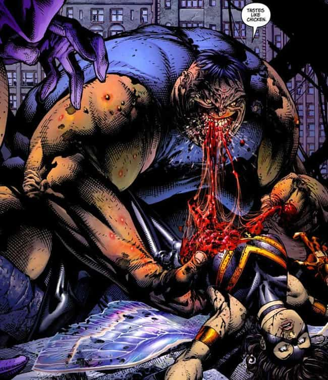 The Blob Eats The Wasp is listed (or ranked) 1 on the list The Most Insanely Disturbing Things That Happened In The Ultimate Marvel Universe