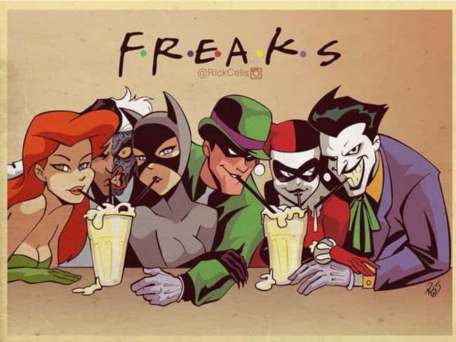 Friends is listed (or ranked) 1 on the list 25 Brilliant Pieces Of Batman Mash-Up Art