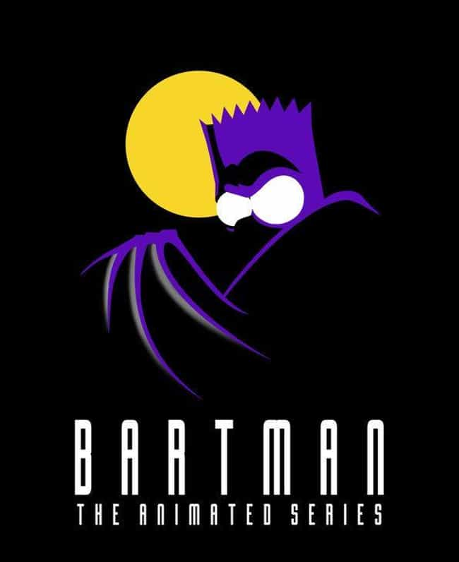 The Simpsons is listed (or ranked) 3 on the list 25 Brilliant Pieces Of Batman Mash-Up Art