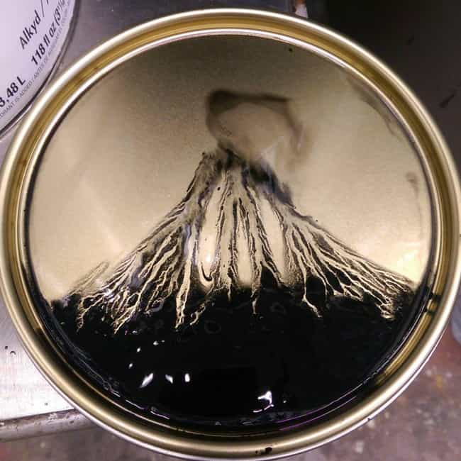 Volcanic Eruption is listed (or ranked) 2 on the list 30 Amazing Works of Art That Are Actually Just Unstirred Paint