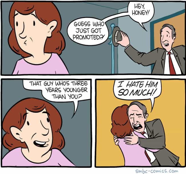 Promotion is listed (or ranked) 2 on the list 20 Comic Strips That Are Hilariously Depressing