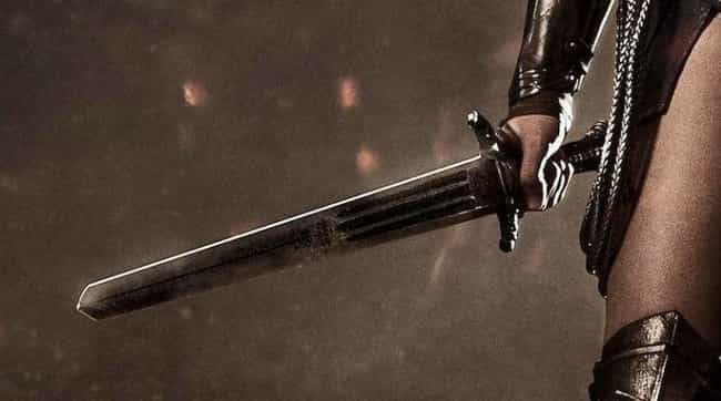 Wonder Woman's Sword is listed (or ranked) 3 on the list 11 Fictional Weapons That Have Secret Meanings Behind Them