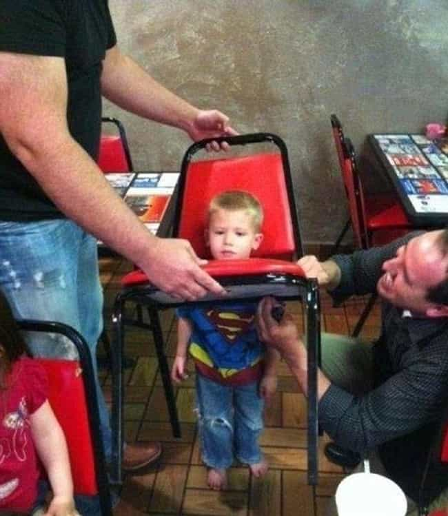 Heroes Aren't The Only O... is listed (or ranked) 2 on the list 23 Hilarious Photos Of Kids With Their Heads Stuck In Unfortunate Places