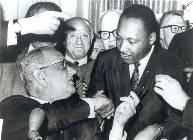 1963 – Martin Luther King, Jr.... is listed (or ranked) 4 on the list Counting Down The Most Insane Things That Happened Every Year of The 1960s