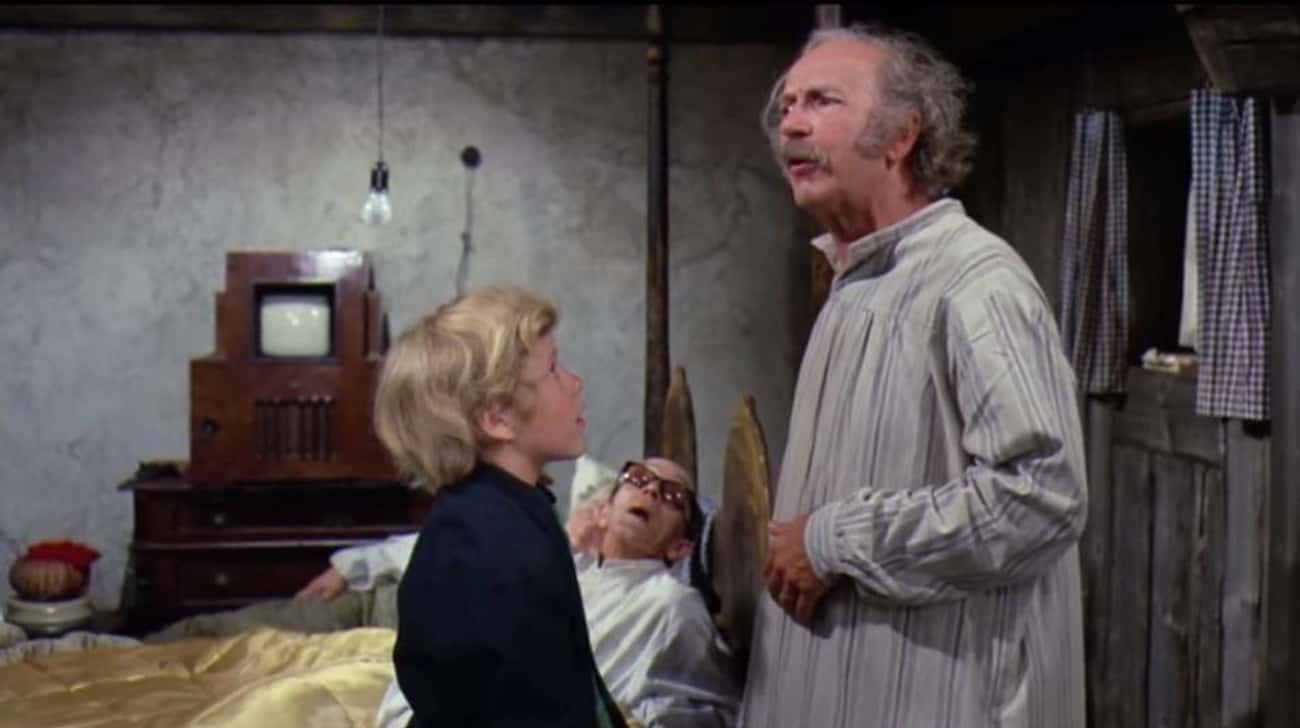 "Grandpa Joe In Willy Wonka and is listed (or ranked) 1 on the list Movie ""Heroes"" Who Were Actually Villains The Whole Time"