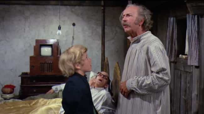 "Grandpa Joe In Willy Won... is listed (or ranked) 1 on the list Movie ""Heroes"" Who Were Actually Villains The Whole Time"