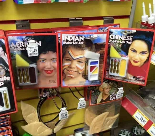 Wildly Racist Costume Make-Up is listed (or ranked) 1 on the list 11 Insanely Cringeworthy And Racist Attempts To Diversify Toy Lines