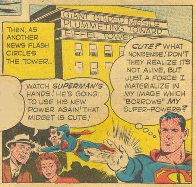 Superman Can Shoot Tiny ... is listed (or ranked) 2 on the list 14 Weird Superpowers You Didn't Realize These Heroes Had