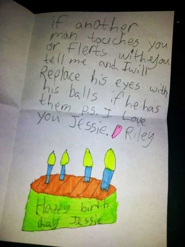 Happy Birthday From Your... is listed (or ranked) 2 on the list Funny Kids' Cards Drawn For Adults