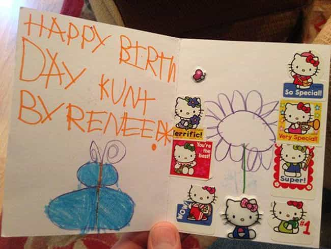 The Truth Hurts, Kurt is listed (or ranked) 3 on the list Funny Kids' Cards Drawn For Adults