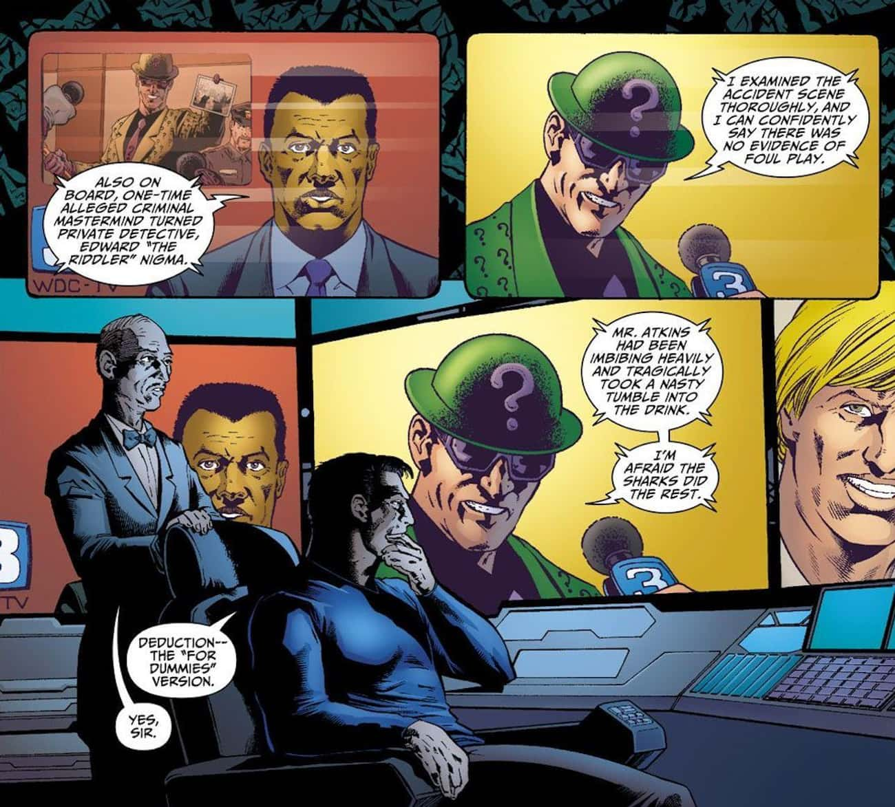 He Rivals Batman As A Fellow D is listed (or ranked) 3 on the list 10 Reasons Why The Riddler Is Actually Batman's Greatest Nemesis