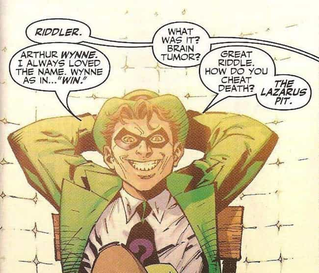 The Riddler Knows All Ab... is listed (or ranked) 4 on the list 10 Reasons Why The Riddler Is Actually Batman's Greatest Nemesis
