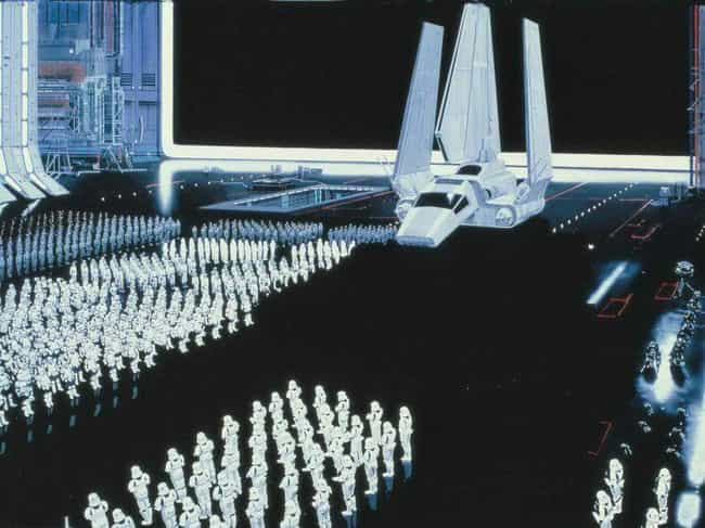 The Imperial Military is listed (or ranked) 1 on the list 23 Gorgeous Matte Paintings From The Original Star Wars Trilogy