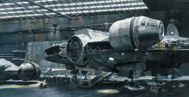 The Falcon is listed (or ranked) 3 on the list 23 Gorgeous Matte Paintings From The Original Star Wars Trilogy