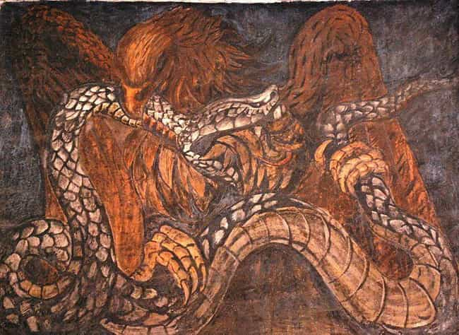 Eagle And Snake Of The Mexican... is listed (or ranked) 4 on the list The Craziest Mexican Murals and the Revolutionary History Behind Them