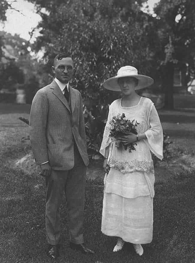 Harry And Bess Truman, 1... is listed (or ranked) 4 on the list Photos Of 13 U.S. Presidents On Their Wedding Day