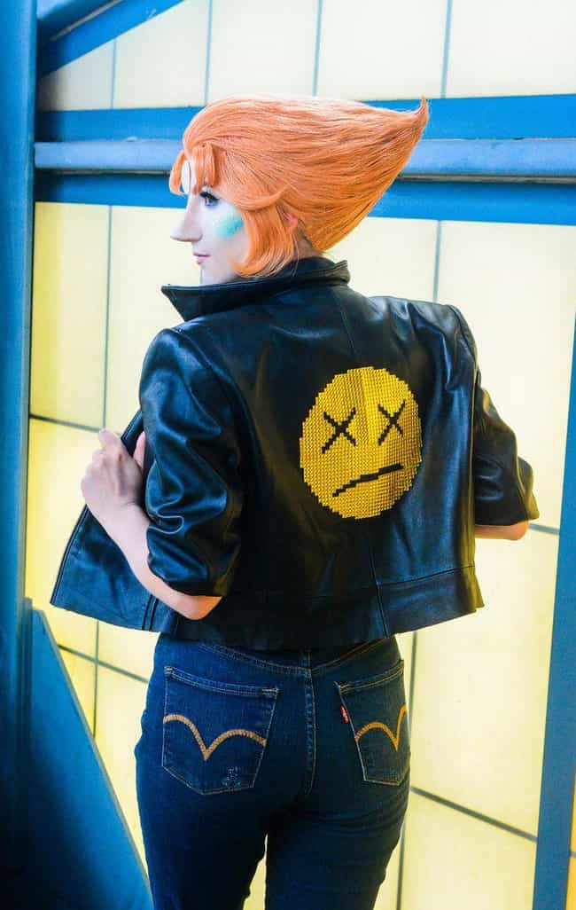 Rocker Pearl is listed (or ranked) 2 on the list 24 Cosplayers Who Have Perfected Steven Universe Characters