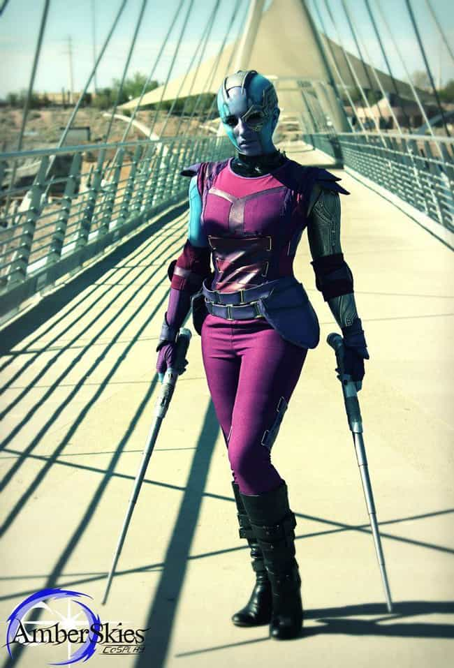 Nebula is listed (or ranked) 1 on the list 25 Guardians Of The Galaxy Cosplays That Are Out Of This World