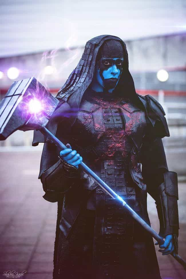 Ronan The Accuser is listed (or ranked) 4 on the list 25 Guardians Of The Galaxy Cosplays That Are Out Of This World