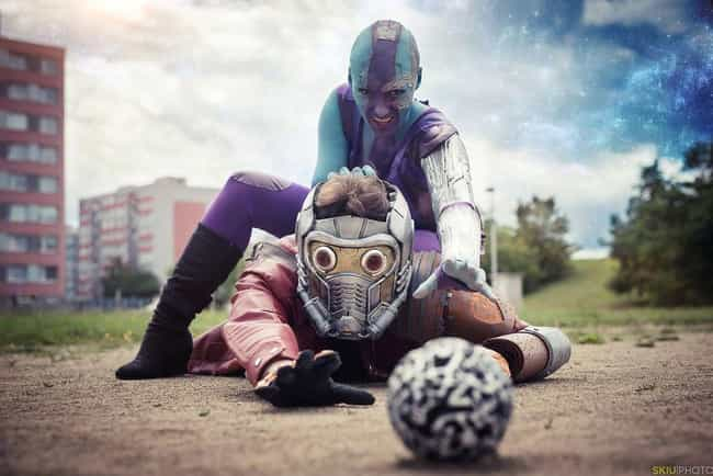 Nebula VS Star-Lord is listed (or ranked) 3 on the list 25 Guardians Of The Galaxy Cosplays That Are Out Of This World
