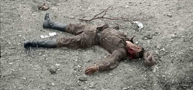 A Fallen Russian Soldier In Ro... is listed (or ranked) 3 on the list 23 Powerful Colorized Photographs From World War II