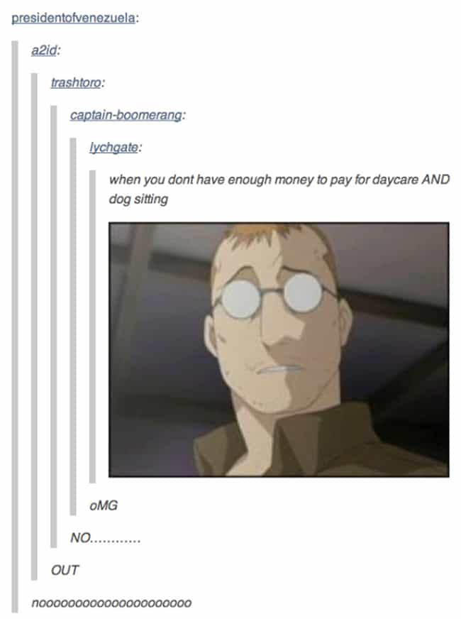 Cheap Bastard... is listed (or ranked) 3 on the list 24 Memes Of Nina And Alexander From FMA That Will Make You Laugh, Then Cry