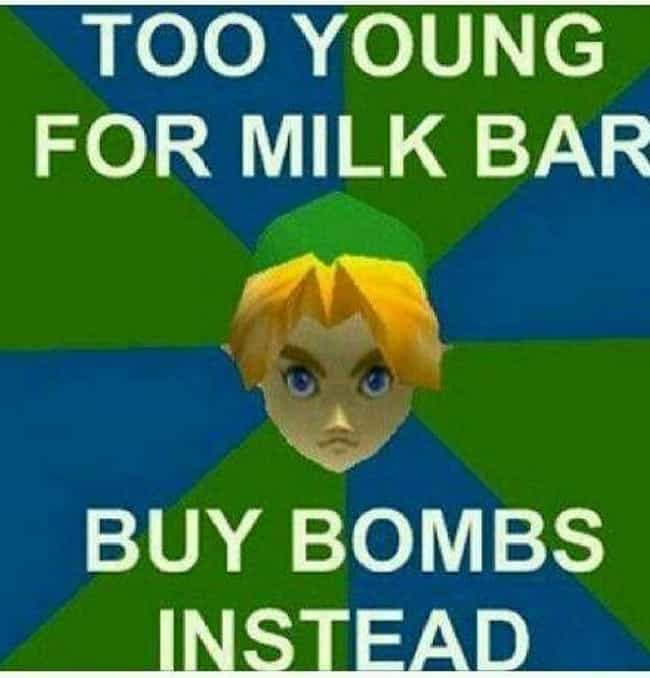 """No Milk For You is listed (or ranked) 4 on the list 22 Mind-Boggling Examples Of """"Zelda Logic"""""""