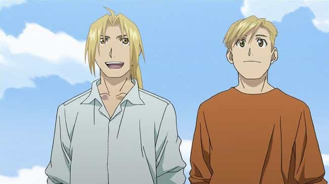 Edward and Alphonse From Fullm... is listed (or ranked) 2 on the list The Greatest Anime Bromances Of All Time