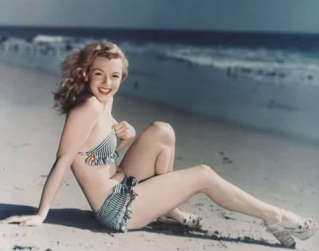 Sunbathing is listed (or ranked) 1 on the list 21 Incredible Photos of Marilyn Monroe You've Never Seen Before
