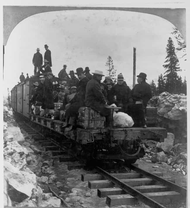 The First Train On The Y... is listed (or ranked) 2 on the list 25 Fascinating Photos And Illustrations From Gold Rushes