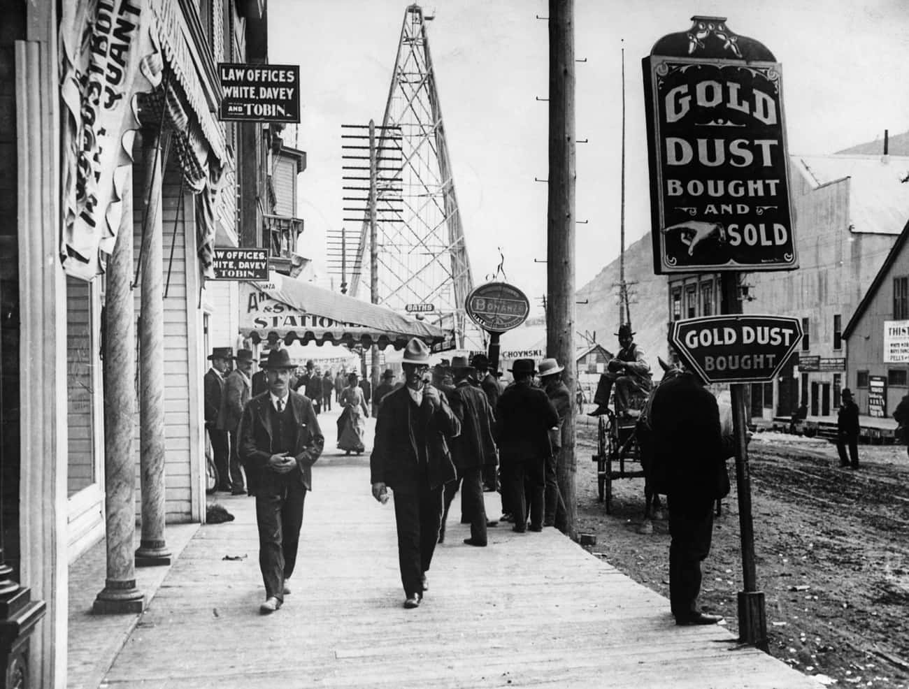 The Main Street Of Dawson, A G is listed (or ranked) 2 on the list 25 Fascinating Photos And Illustrations From Gold Rushes