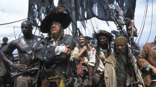 The Crew Of The Black Pe... is listed (or ranked) 2 on the list 14 Things That Happen In Every Frickin' Pirates Of The Caribbean Movie