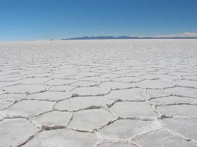 Salt Flats is listed (or ranked) 4 on the list 15 Natural Instances of Self-Similarity That Will Blow Your Mind