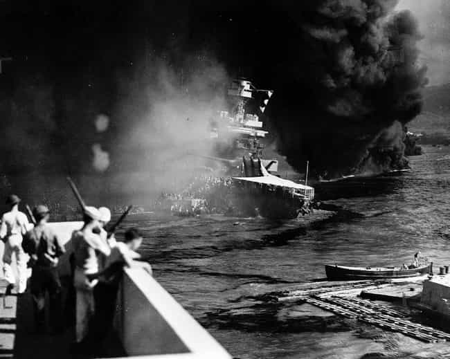 The USS California's Cre... is listed (or ranked) 4 on the list 21 Grim Pictures From The Aftermath Of Pearl Harbor