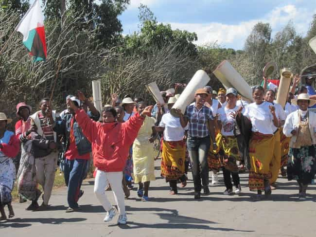 The Festival Is Held Onc... is listed (or ranked) 4 on the list In This Joyous Malagasy Ceremony, The Living Literally Dance With The Dead