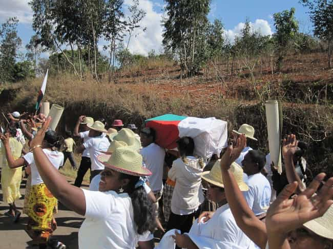 The Dead Are Reburied Up... is listed (or ranked) 3 on the list In This Joyous Malagasy Ceremony, The Living Literally Dance With The Dead