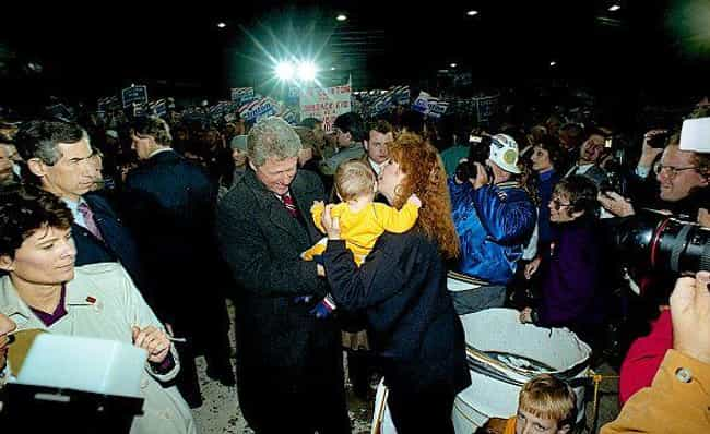 Greeting Crowds And Kiss... is listed (or ranked) 4 on the list Rare Photos Of The '92 Clinton Campaign