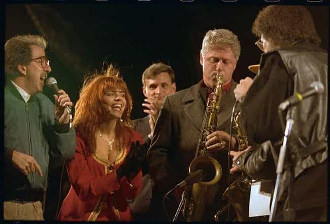 Playing His Famed Sax, Cherry ... is listed (or ranked) 1 on the list Rare Photos Of The '92 Clinton Campaign