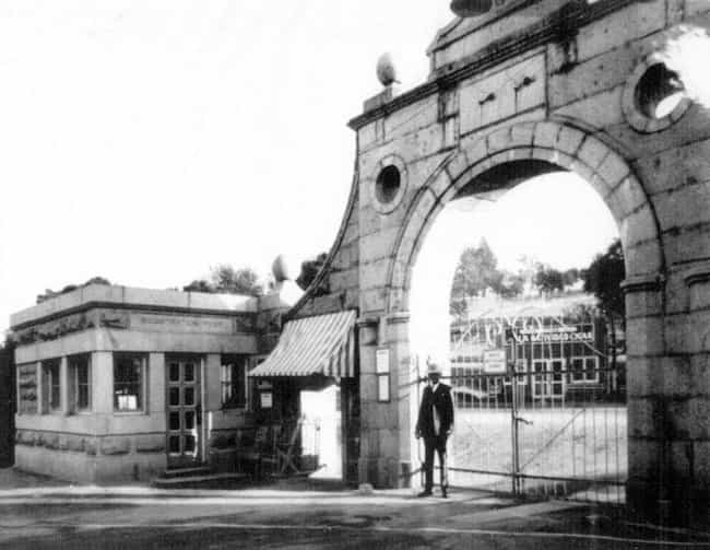 Folsom's Entry Gate In T... is listed (or ranked) 2 on the list Revealing Look Inside California's Hardest Prisons - San Quentin And Folsom