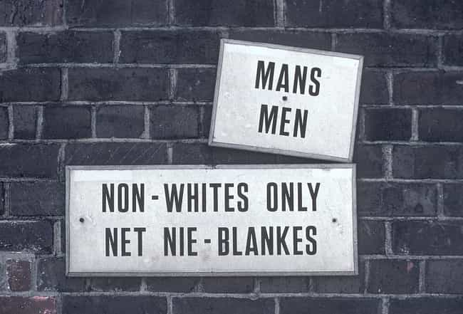A Sign For A 'Blacks Only&... is listed (or ranked) 1 on the list Dark Photos Taken During Apartheid In South Africa