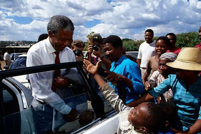 Nelson Mandela In A Motorcade ... is listed (or ranked) 4 on the list Dark Photos Taken During Apartheid In South Africa