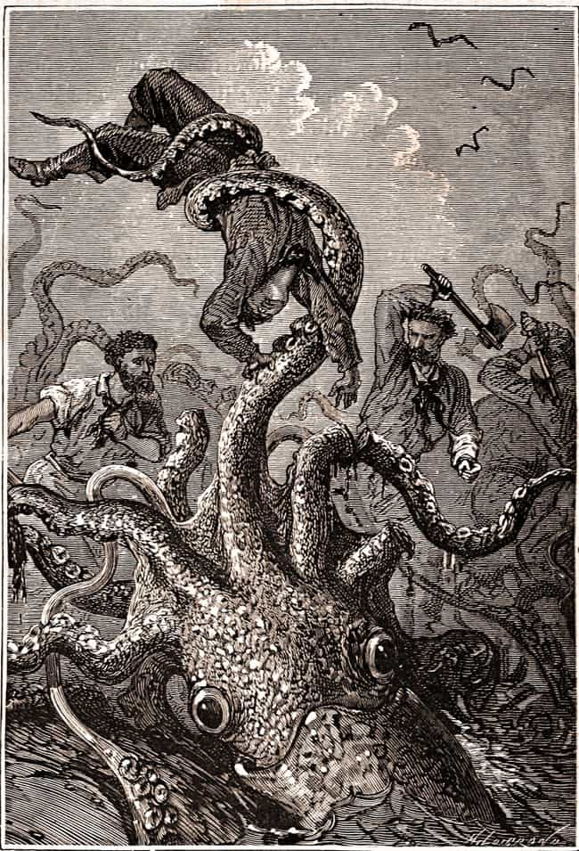 The Kraken Used Its Tent... is listed (or ranked) 3 on the list The Legend Of The Kraken Vs. The Actual Giant Squid