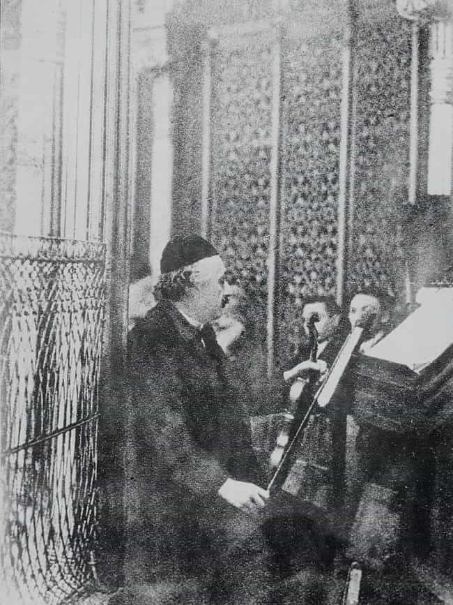 Playing Violin At A Berlin Syn... is listed (or ranked) 3 on the list Photos Of Albert Einstein That Show The Guy Behind The Genius