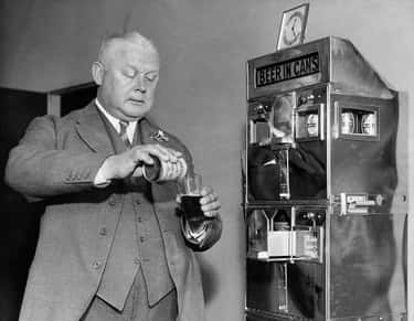 Canned Beer Vending Machine is listed (or ranked) 2 on the list 28 Rare Photos That Prove The 1930s Were Way Weirder Than You Thought