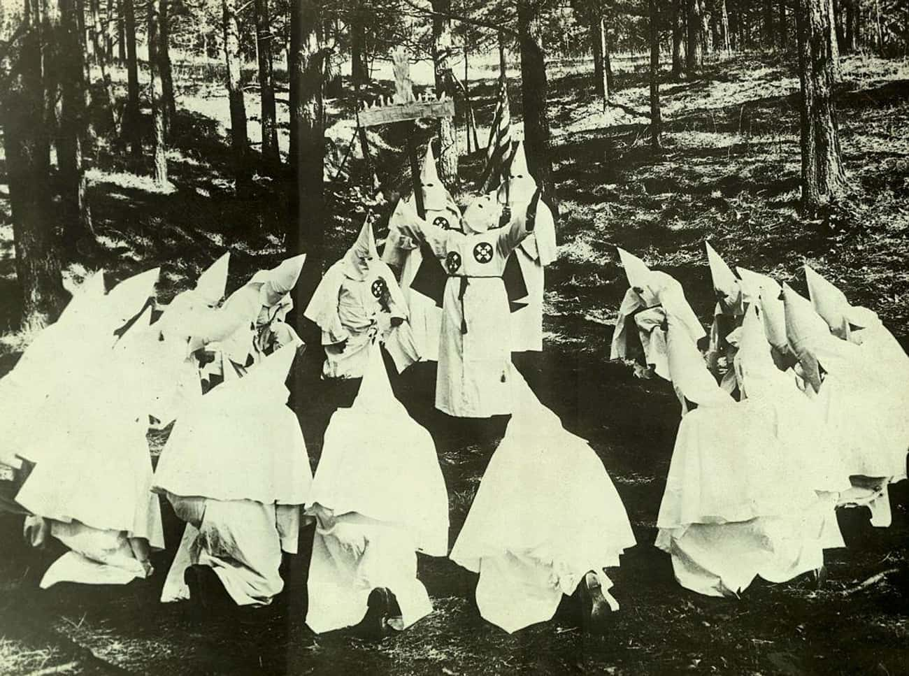 Klan Rally Forms A Circle is listed (or ranked) 3 on the list 18 Disturbing Photos Of KKK Rallies